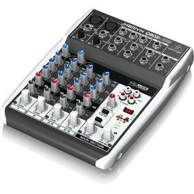 Mesa De Som 6 Canais Behringer Mixer Xenyx Q802 Usb