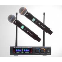 Microfone Sem Fio Duplo Tsi Ud2200 Mao Na Cheiro De Musica