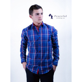 Camisa Para Caballero A Cuadros - Peaceful Clothing Co.