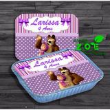 50 Marmitinhas Personalizadas Masha E O Urso