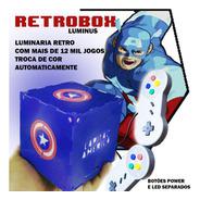 Retrobox Luminus, 20 Mil Jogos Na Memoria, Cubo Capitão Rgb