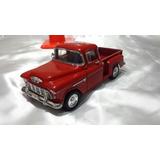 Superior 1955 Chevy Stepside Color Roja Escala 1/24