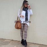 Calças Femininas Legging Estampada Etnica Boho Suedine 2811