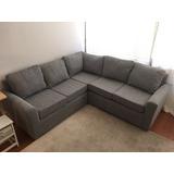 Sofa Seccional 5 Cuerpos En L, Color Gris 187cm