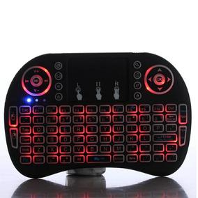 Teclado Inalambrico Tv Box, Pc , Mouse Pad Con Luz