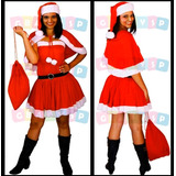 Vestido Da Mamãe Noel Fantasia Roupa Adulto Noelete Natal