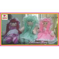 Muñecas De Trapo Pequeñas, Medianas, Grandes.precio X Docena