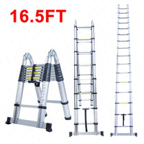 Exclusiva Escalera De Largo Alcance Aluminio 16.5 Importada