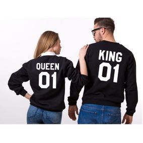 Sudaderas Pareja Novios King Queen Enviogratis Cuelloredondo