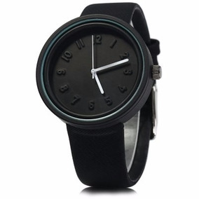 Reloj Caballero Miler A8289 Correa Y Caratula Negra Cuarzo
