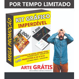 Kit Gráfico - 1.000 Panfletos + 1.000 Cartões De Visita