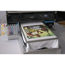 Impresora De Playeras Dtg R3000/p600 Tinta Blanca Cama Plana