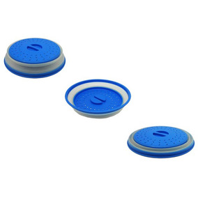 Tapa Coladera Silicon Plastico Microondas Azul Good And Good