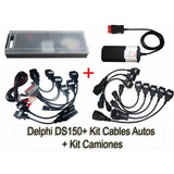 Scanner Auto Delphi Ds150 + Kit 16 Cables Autos Y Camiones