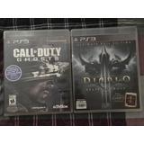 Juego Ps3 Diablo 3 Exp. Y Call Of Duty Ghosts
