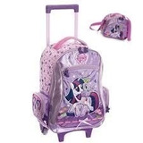 Mochila Escolar Rodinhas My Little Pony Poney + Lancheira