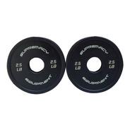 Discos De Caucho Supremacy 2 Uni De 2.5lb Color Negro
