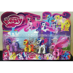 Kit 4 My Little Pony Pvc Poney Meu Querido Poney Coleção