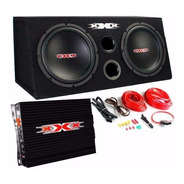 Caja Doble De Bajos Xxx Xbx-1200 + Potencia 1200w + Cables
