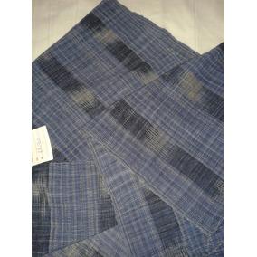 Chalina En Color Azul Y Gris 44 Cm X 156 Cm