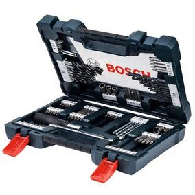 Jogo Kit Ferramentas Acessórios Brocas 91 Peças Bosch