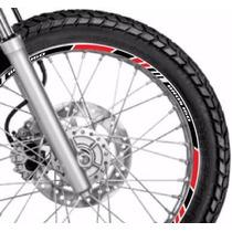 Friso Adesivo Refletivo Roda Tricolor M4 Moto Honda Bros 160