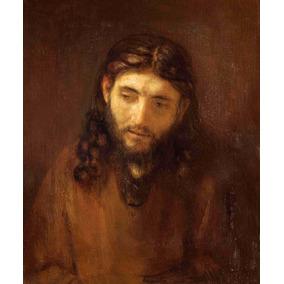 Lienzo Tela Rostro De Cristo Rembrandt Arte Sacro 70 X 85 Cm