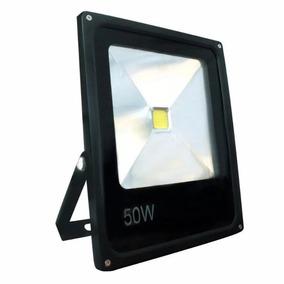 Refletor Holofote Led 50w Branco Frio Bivolt Carcaça Preto