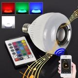 Lampada Led 6w Rgb Caixa Som Bluetooth 2 Em 1 Mp3 Music Bulb