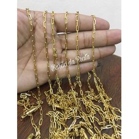 Cordão Cartier 3mm E 70cm Banhado A Ouro 18k