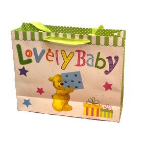 Bolsas Regalo Baby Shower Cartón Rígidas 33x26cm