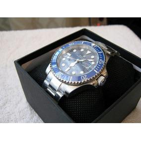Reloj Acero Bicel Azul Submariner Automatico Ceramico