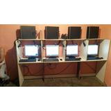 10 Computadoras Para Cyber Instalacion,mesas,impresora Etc..