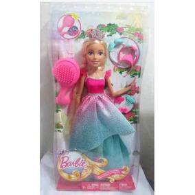 Barbie Mi Gran Princesa Reina Peinados De 43cms+envio Gratis