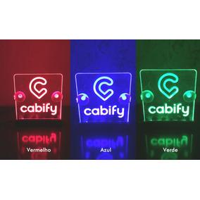 Luminoso Cabify | 99 Pop Led Em Acrílico Plaquinha Placa