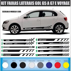Acessórios Kit Adesivos Laterais Gol G5 G6 G7 E Voyage