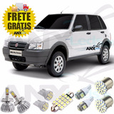Kit Lampadas Led Fiat Uno Mille Way Fire + H4 Led ( Farois )