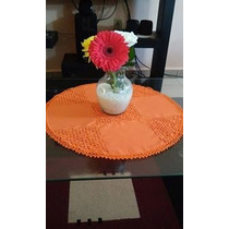 Mantel Redondo 100% Bordados Amano 50x50cm