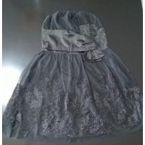Vestido Corte Princesa Con Faja De Raso Diseño Flores Tela