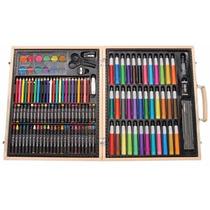 Estuche Set Arte 131 Piezas Dibujo Acuarela Crayolas Plumon