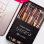 Brochas Maquillaje Naked Estuche Metalico De 12 Pinceles