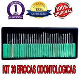 Kit 30 Brocas Odontologica Diamantada Prótese Dentária Lima