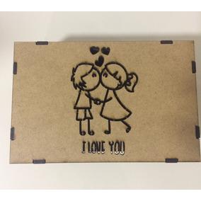 Caixa Dia Dos Namorados - Amor - Presente - Casamento - Mdf