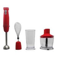 Mixer Minipimer 3 En 1 Kanjihome Kjh-bl1000hb02 Rojo 220v