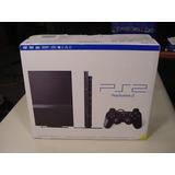 Playstation 2 Slim Nuevo + 5 Juegos Originales (ps2 Slim)