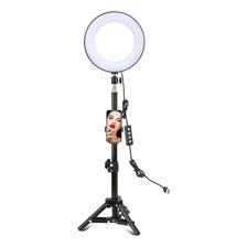 Hyiear 8 - Lámpara De Anillo Para Selfies Con Soporte Para T