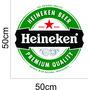 Adesivo Logo Heineken 50cm X 50cm Geladeira Parede