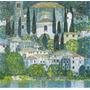 Lienzo Tela Gustav Klimt Pintura Iglesia Y Casa 50 X 52 Cm