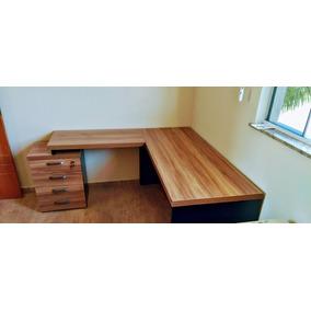Mesa escritorio l escrivaninhas no mercado livre brasil for Mesa escritorio barata