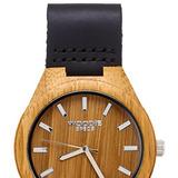 Reloj De Madera Para Hombres Hecho Con 100% Bambú Y Una Band